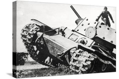 Kv-1 Kliment Voroshilov Heavy Tank--Stretched Canvas Print