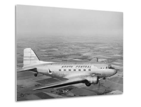 Douglas Dc-3 Plane in Flight--Metal Print
