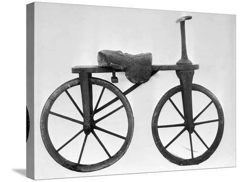 Early Bicycle--Stretched Canvas Print