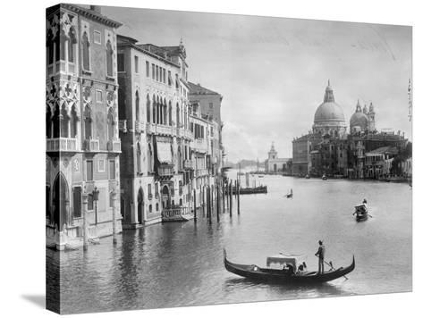 Grand Canal in Venice--Stretched Canvas Print