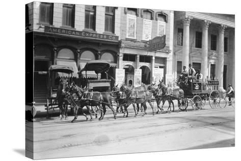 Budweiser Beer Wagon--Stretched Canvas Print