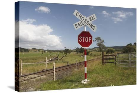 Railroad Crossing--Stretched Canvas Print