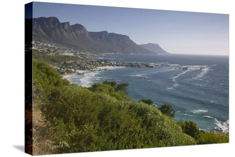 Camps Bay and Twelve Apostles Mountains--Stretched Canvas Print