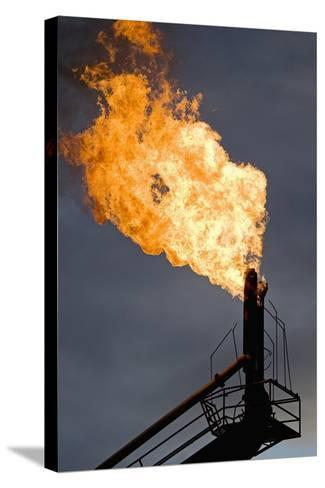 Natural Gas Flare--Stretched Canvas Print