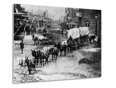 Horse Drawn Covered Wagon--Metal Print