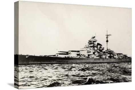 The German Battleship Bismarck of the German Kriegsmarine During Early World War II--Stretched Canvas Print
