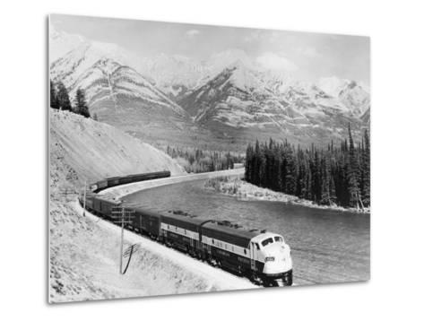 View of Moving Train--Metal Print