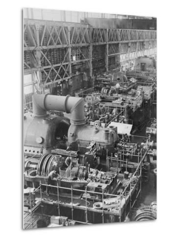 Steam Turbines Being Assembled--Metal Print