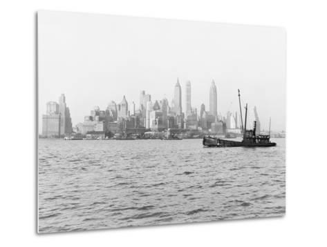 Steamboat in New York Harbor--Metal Print