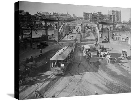 View of Victoria Bridge--Stretched Canvas Print