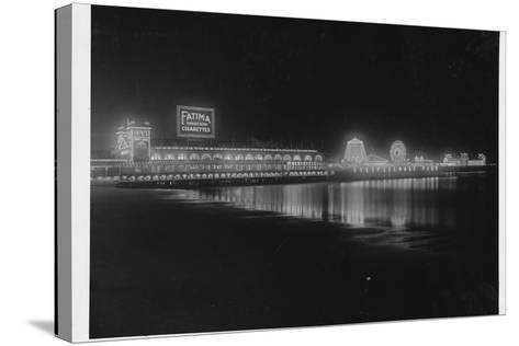 Steeplechase Pier at Night--Stretched Canvas Print