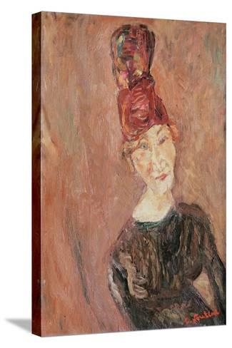Woman with a Hat, 1926-Chaim Soutine-Stretched Canvas Print