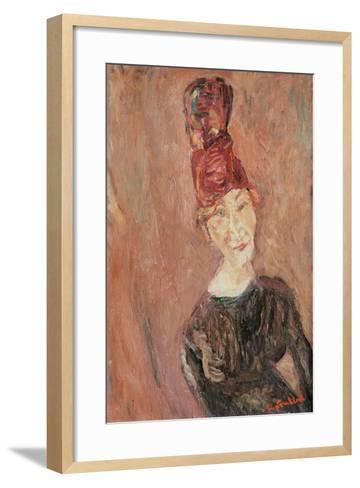 Woman with a Hat, 1926-Chaim Soutine-Framed Art Print