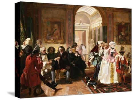Dr. Johnson in the Ante-Room of the Lord Chesterfield Waiting for an Audience, 1748-Edward Matthew Ward-Stretched Canvas Print