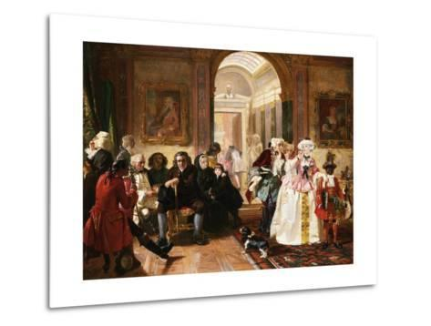 Dr. Johnson in the Ante-Room of the Lord Chesterfield Waiting for an Audience, 1748-Edward Matthew Ward-Metal Print