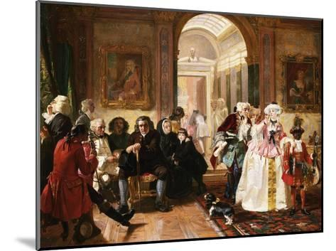 Dr. Johnson in the Ante-Room of the Lord Chesterfield Waiting for an Audience, 1748-Edward Matthew Ward-Mounted Giclee Print