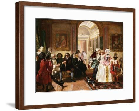 Dr. Johnson in the Ante-Room of the Lord Chesterfield Waiting for an Audience, 1748-Edward Matthew Ward-Framed Art Print