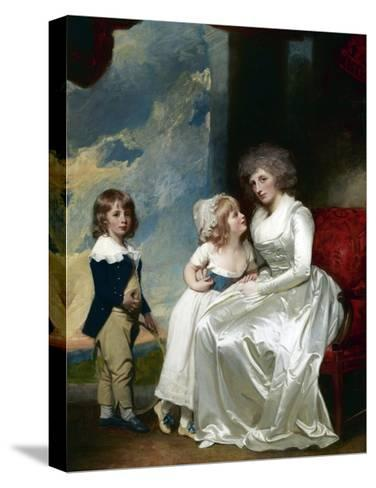 Henrietta, Countess of Warwick, and Her Children-George Romney-Stretched Canvas Print