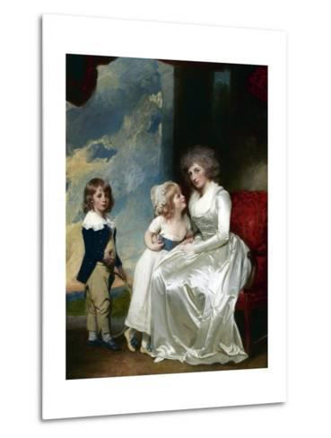 Henrietta, Countess of Warwick, and Her Children-George Romney-Metal Print