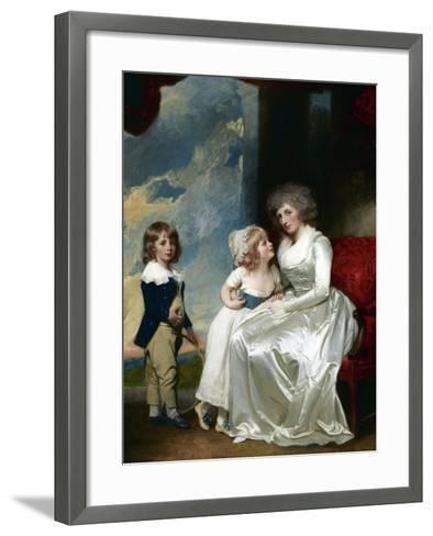 Henrietta, Countess of Warwick, and Her Children-George Romney-Framed Art Print