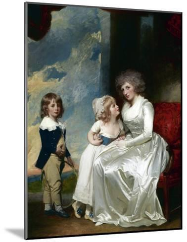 Henrietta, Countess of Warwick, and Her Children-George Romney-Mounted Giclee Print