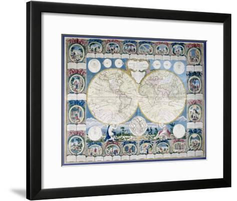 General Map of the Earth-Abbe Clouet-Framed Art Print