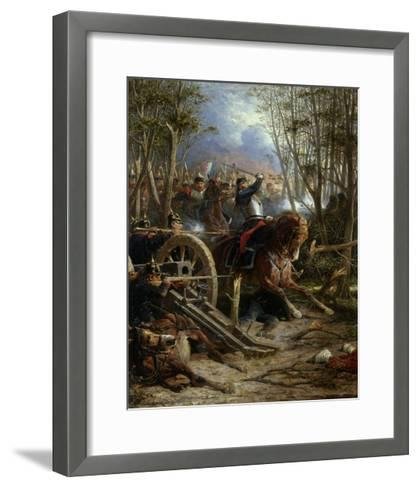 The Charge of the French Cuirassiers at Reichshof-Adolphe Yvon-Framed Art Print
