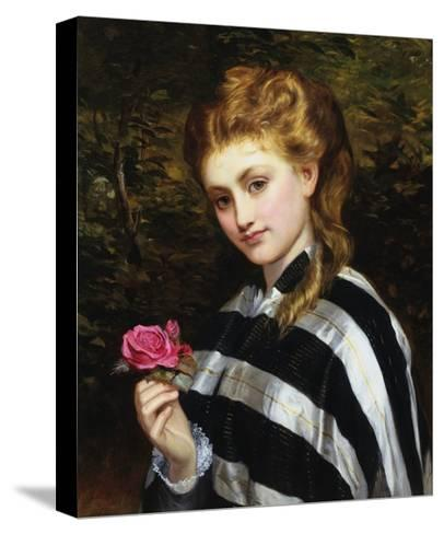 The Red Rose-Charles Sillen Lidderdale-Stretched Canvas Print