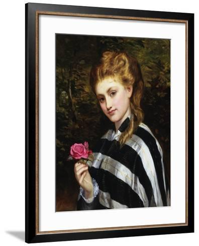 The Red Rose-Charles Sillen Lidderdale-Framed Art Print