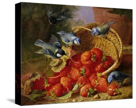 A Feast of Strawberries (Blue Tits) by Eloise Harriet Stannard-Eloise Harriet Stannard-Stretched Canvas Print