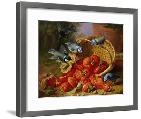A Feast of Strawberries (Blue Tits) by Eloise Harriet Stannard-Eloise Harriet Stannard-Framed Art Print