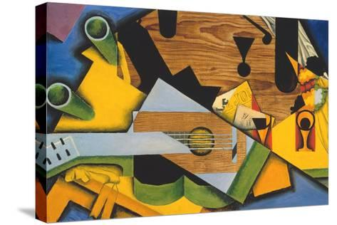 Still Life with a Guitar-Juan Gris-Stretched Canvas Print