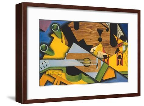 Still Life with a Guitar-Juan Gris-Framed Art Print