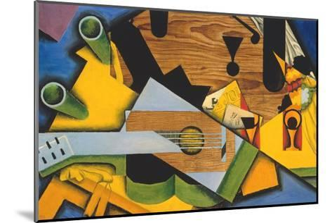 Still Life with a Guitar-Juan Gris-Mounted Giclee Print