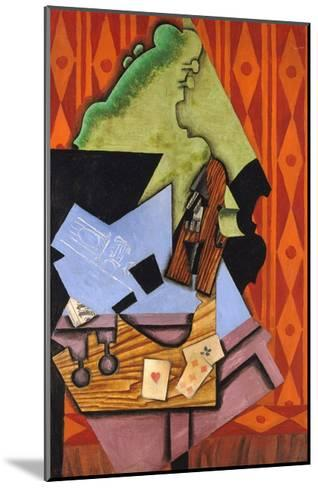 Violin and Playing Cards on a Table-Juan Gris-Mounted Giclee Print