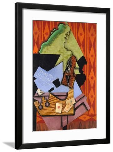 Violin and Playing Cards on a Table-Juan Gris-Framed Art Print