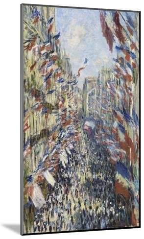 The Rue Montorgueil in Paris, Celebration of June 30, 1878-Claude Monet-Mounted Giclee Print