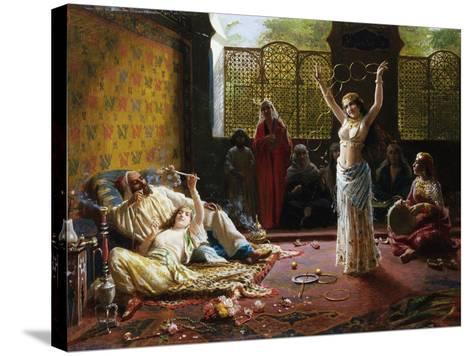 A Harem Scene-Giacomo Mantegazza-Stretched Canvas Print