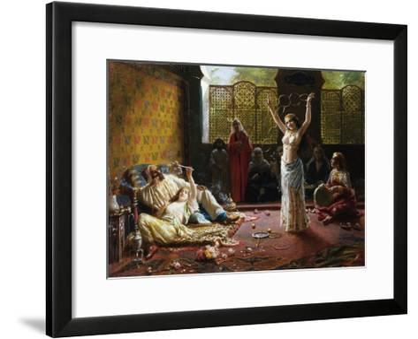 A Harem Scene-Giacomo Mantegazza-Framed Art Print