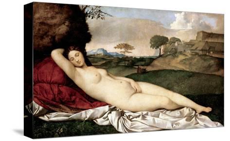 Sleeping Venus-Giorgione-Stretched Canvas Print