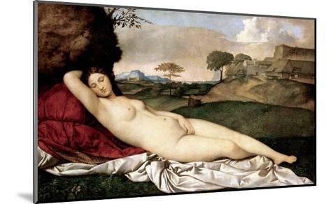 Sleeping Venus-Giorgione-Mounted Giclee Print