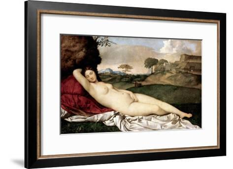 Sleeping Venus-Giorgione-Framed Art Print