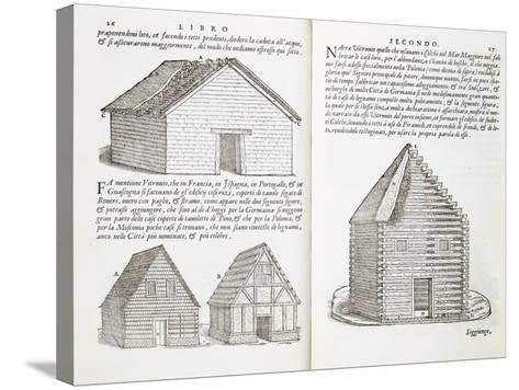 Illustration of House Types-Giovanni Antonio Rusconi-Stretched Canvas Print