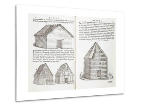 Illustration of House Types-Giovanni Antonio Rusconi-Metal Print