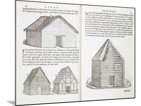 Illustration of House Types-Giovanni Antonio Rusconi-Mounted Giclee Print