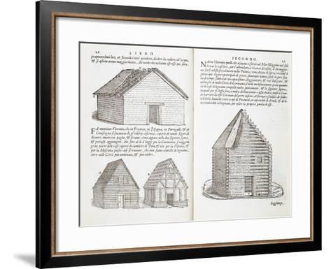 Illustration of House Types-Giovanni Antonio Rusconi-Framed Art Print