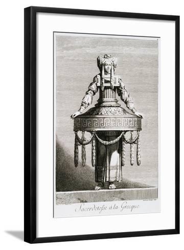 Sacerdotefse a La Greque-Ennemond Alexandre Petitot-Framed Art Print