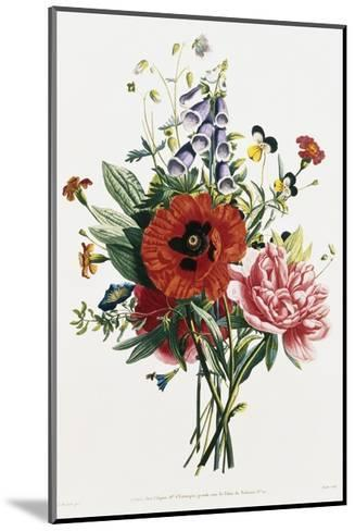 Bouquet of Foxglove, Poppy, and Peony-Jean Louis Prevost-Mounted Giclee Print