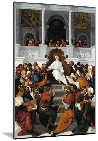 The Twelve-Year-Old Jesus Teaching in the Temple-Ludovico Mazzolino-Mounted Giclee Print