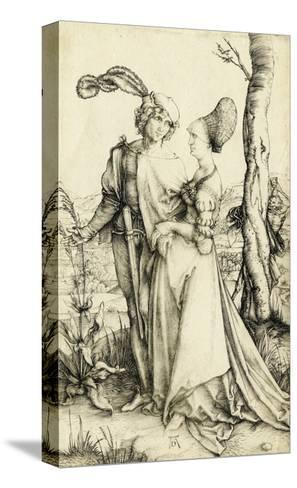Promenade (Young Couple Threatened by Death)-Albrecht D?rer-Stretched Canvas Print